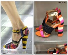 Sandalias de Prada vs. Zara (55,95€)