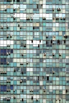 such a pretty mosaic of white and green on a (probably) very ugly building - featured on Friday Favorites - Living Vintage