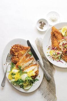 Get the crunch you crave by dredging your chicken in a savory peanut coating. Bring fresh flavor to the table by serving with Squash Ribbon Salad.    Recipe:Peanut Chicken Scaloppine