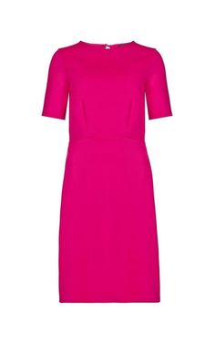 NEW Marks and Spencer A Line Scuba Fit and Flare Shift Prom Dress Pink 8 to 18 in Dresses Pink Prom Dresses, Party Dresses, Fit And Flare, Line, 18th, Short Sleeve Dresses, Dresses For Work, Fitness, Ebay