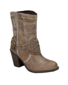Corral Womens Taupe Studded Harness Short Top Boot   http://www.countryoutfitter.com/products/45763-womens-taupe-studded-harness-short-top-boot-p5006