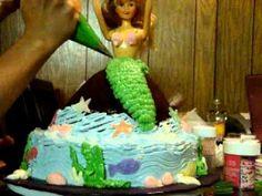 Little mermaid cake. ~ Video Tutorial