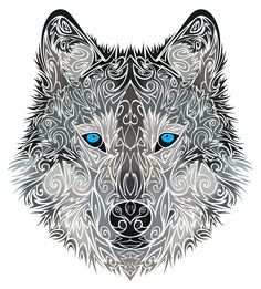 watercolor tribal wolf tattoo - Google Search  Like the idea but lines are too swirly...am I making sense?-DRG