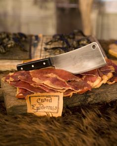 "Cured Epidermis  ""Creative presentation turns delicious prosciutto into delightfully eerie Halloween hors d'oeuvres."""