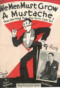 Roaring Twenties - Sheet music poking fun at the masculine traits many women adopted during the Old Sheet Music, Vintage Sheet Music, Vintage Sheets, Vintage Ads, Vintage Posters, Music Sheets, Vintage Graphic, Piano Sheet, Weird Vintage