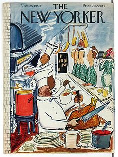 Original 1940s-50s New Yorker Magazine Cover For Sale