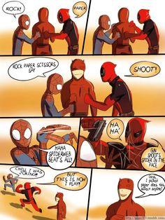 Spidey, DD & Deadpool