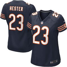 Nike Chicago Bears Devin Hester Limited Jersey Women Navy Blue #23 Team Color NFL Jerseys Sale
