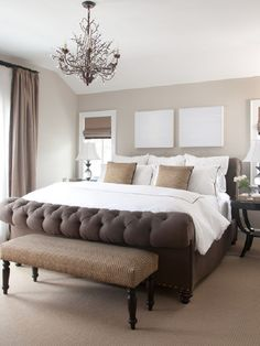 Large bed bedroom