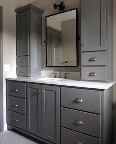 39 Perfect Bathroom Cabinet Remodel Ideas is part of Bathroom cabinets designs Many individuals choose to remodel their bathrooms and change the look of the interiors Before making those changes ma - Diy Bathroom Decor, Bathroom Interior, Modern Bathroom, Bathroom Ideas, Master Bathrooms, Budget Bathroom, Shower Bathroom, Shower Ideas, Rustic Bathrooms