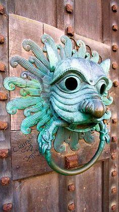 Brass replica of Brougham door knocker