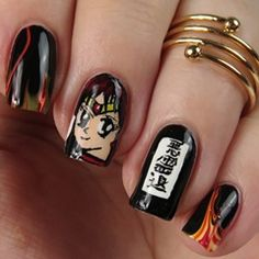 Sailor Moon Blogparade  Sailor Mars Nails