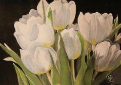"Daily Paintworks - ""Tulip Study 2"" - Original Fine Art for Sale - © Kathleen Straube"