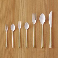 Brass and silver cutlery