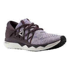 Reebok Women's Floatride Run EX UltraKnit Running Shoes - Grey/Purple