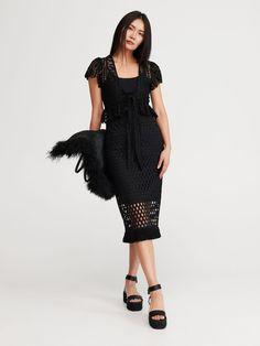 Bluză ajurată - negru - WP025-99X - RESERVED - 1 Cold Shoulder Dress, Dresses, Fashion, Vestidos, Moda, Fashion Styles, Dress, Fashion Illustrations, Gown