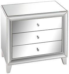 "Affiliate | Studio 55D Liza 3-Drawer 30"" Wide Mirrored Accent Table 