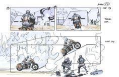Captain America storyboard.