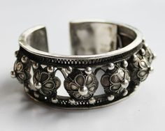 Layering tribal bracelet  ethnic silver by ChickpeaDesignStudio, $44.00