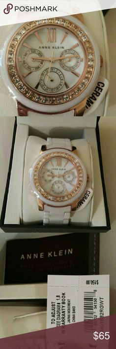 Anne Klein ceramic collection watch Ceramic collection with Swarovski crystals. Brand new with tags. Retail $150. I can ship out next day :) Anne Klein Accessories Watches