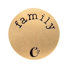 Medium Gold Family Plate  *Fits inside our medium and large Lockets #origamiowl #livinglockets #plate #family