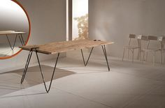 """Tavolo abete massello stile industriale """" Graffa """" cm 220 x 100 h 78 Nuovo in Arte e antiquariato, Arredamento d'antiquariato, Tavoli   eBay"""