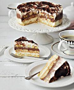 Polish Desserts, Polish Recipes, Baking Recipes, Cake Recipes, Dessert Recipes, Sweet Desserts, Sweet Recipes, Torte Cake, Sweet Cakes