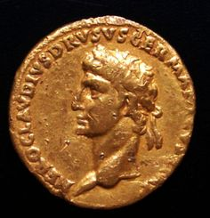 38 BC TO 09 AD.......ROMAN GOLD COIN OF AUREUS OF DRUSUS........SOURCE EBAY.COM......