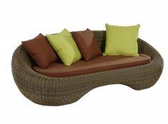 Matra Sofa  Das Sofa Matra bietet Platz für 2 oder auch 3 Personen. Ein hochwertig verarbeitetes Kunststoff-Rattan Sofa. Die Kissen sind inklusive
