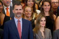 King Felipe and Letizia Queen hosted a reception in honor of women's water polo team and swim that participated in the European Championship at the Zarzuela Palace in Madrid.