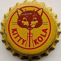 Kitty Kola, bottle cap | Kitty Kola Co. Ltd., London, United Kingdom | Cap used 1955-1965 | Sold on eBay 8/2012 for GBP 8.50