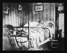 This taken after Abraham Lincoln died in this bed after the assault at Ford's Theatre