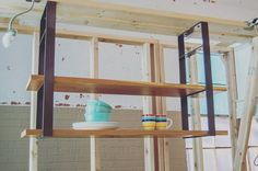 Our #Universal Shelf can hang from the ceiling to complete your kitchen or living areas with beautiful open shelving or...