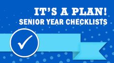 Get students and parents through the senior year - monthly checklists and communication tools for educators, parents and students! It's A Plan! Senior Year Checklist, College Checklist, College Planning, Career Planning, High School Counseling, Career Counseling, School Counselor, Scholarships For College, Education College