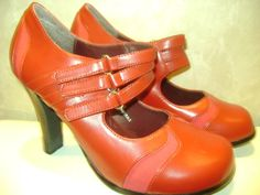 Red and pink mary janes for kisses and love. $24.99. Xoxo