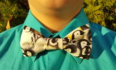 Emperor Penguin Bowtie  Nerdy Geek Fashion Bow Tie Gifts for Him Adjustable Bowtie Novelty Bowtie Happy Feet Inspired Funny Gift (13.00 USD) by CoyoteZ