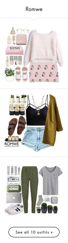 """Romwe"" by credentovideos ❤ liked on Polyvore featuring мода, abcDNA, Lancôme, Acne Studios, Calvin Klein, Emissary, Elie Saab, Birkenstock, Alicia Marilyn Designs и Vero Moda"