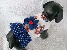 Patriotic 4th of July  Ruffled   Harness Vest  Custom  Made  dog or cat Nautical