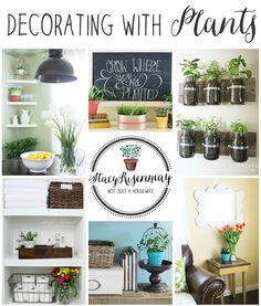 How To Decorate With Plants - this is one of my favorite tips, I love having plants in the home.