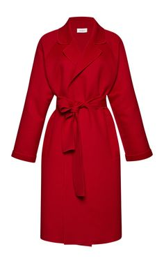 Belted Wool and Cashmere-Blend Coat by Isa Arfen Now Available on Moda Operandi #CLASSIC