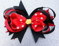 Minnie Mouse el arco del pelo pinzas de pelo de Minnie por Ulous