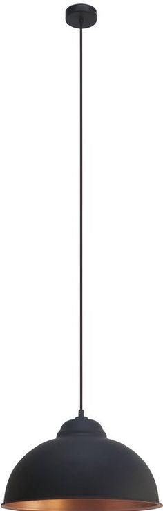 Truro 2taklampeSort/kobberfarget stål