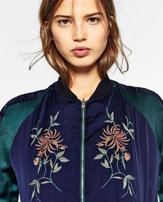 EMBROIDERED REVERSIBLE BOMBER JACKET-JACKETS-TRF | ZARA United States