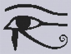 Eye of Horus Cross Stitch Pattern