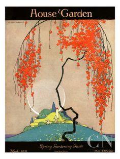 House & Garden Cover - March 1921 Regular Giclee Print