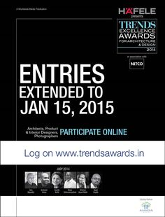 Date Extended for Submitting Entries to TRENDS AWARDS 2014