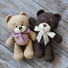 Crochet Bear Amigurumi - Question to Answer Teddy Bear Patterns Free, Crochet Teddy Bear Pattern, Crochet Baby Toys, Crochet Animal Patterns, Crochet Doll Pattern, Stuffed Animal Patterns, Crochet Patterns Amigurumi, Crochet Dolls, Crochet Projects