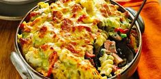 This delicious, veggie-packed recipe for creamy ham and cauliflower pasta bake is perfect for those chilly nights.