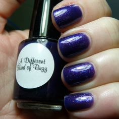 Purple jelly with glitter.