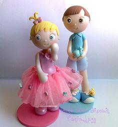 Topo de bolo Menina com borboletinhas e Topo menino e os passarinhos =) | Flickr - Photo Sharing!